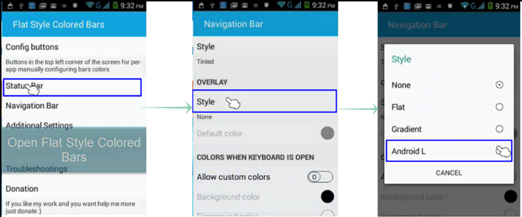 How-To-Get-Status-And-Navigation- Bar like-Lollipop