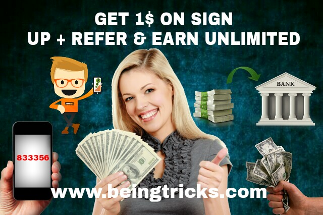Get 1$ on Sign Up + Refer & Earn Unlimited Money from Champcash