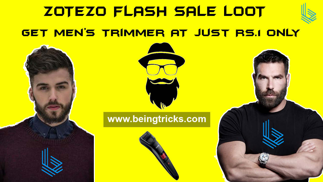 [Rs.1 Sale] Zotezo Flash Sale Loot :- Get Men's Trimmer at just Rs.1 only