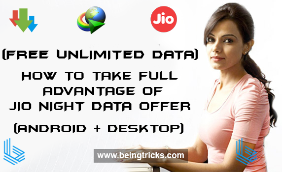 jio night data offer, jio unlimited data, jio unlimited data hack, jio unlimited data trick