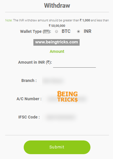 pocketbits withdraw inr